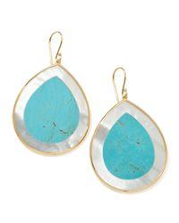 Ippolita - Blue Polished Candy Jumbo Teardrop Earrings Turquoise - Lyst