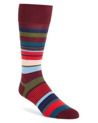 Paul Smith - Red 'bright Stripe' Socks for Men - Lyst