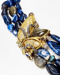 "Alexis Bittar - Multicolor Elements Labradorite, Aventurine & Sodalite Tressage Necklace, 18"" - Lyst"