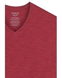 Vince - Red V Neck Top - Lyst
