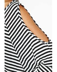 Nasty Gal | Black After Party By Sicily Striped Bra Top | Lyst