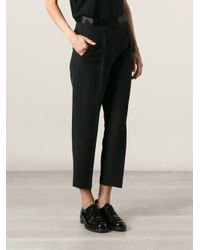 Alexander Wang - Black Cropped Trousers - Lyst
