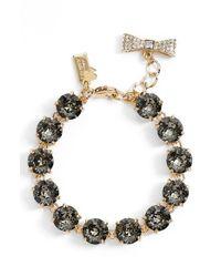 kate spade new york - Black 'fancy That' Line Bracelet - Lyst