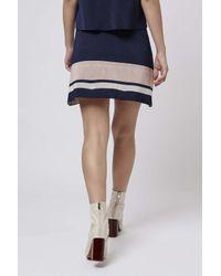 TOPSHOP - Blue Modern Stripe Skirt - Lyst
