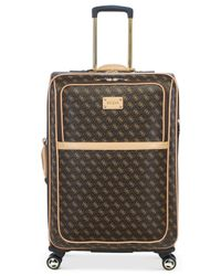 """Guess - Brown Logo Affair Dlx 25"""" Spinner Suitcase for Men - Lyst"""