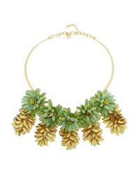 Tory Burch - Metallic Brynn Goldplated Resin Necklace - Lyst