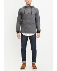 Forever 21 | Gray French Terry Pocket Hoodie for Men | Lyst