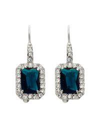 Carolee - Metallic Simply Blue Rectangular Drop Earrings - Lyst