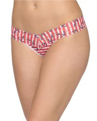 Hanky Panky | Red Striped Anchor Low-Rise Thong | Lyst