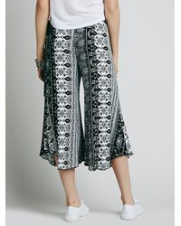 Free People | Black Bondi Printed Culottes | Lyst