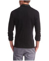 BOSS Orange - Black Cotton Sweatshirt Jacket 'Wictoro' for Men - Lyst