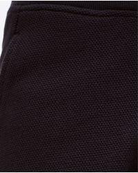 Zara | Black Piqué Shorts for Men | Lyst