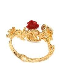 Alexander McQueen - Metallic Cherry Blossom Flowers Bracelet - Lyst