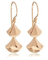 Dinny Hall - Metallic Rose Gold Vermeil Naga Double Drop Earrings - Lyst