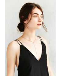 Urban Outfitters - Green Delicate Crystal Lariat Necklace - Lyst