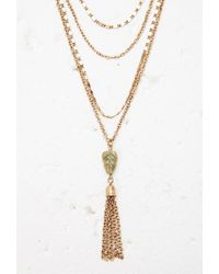 Forever 21 - Metallic Layered Tassel Necklace - Lyst