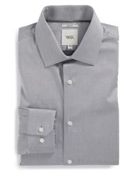 W.r.k. | Gray Extra Trim Fit Stretch Twill Dress Shirt for Men | Lyst