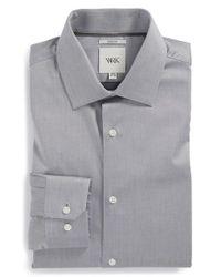 W.r.k. - Gray Extra Trim Fit Stretch Twill Dress Shirt for Men - Lyst