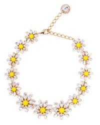 Dolce & Gabbana | Yellow Crystal Daisy Necklace | Lyst