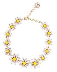 Dolce & Gabbana - Yellow Crystal Daisy Necklace - Lyst
