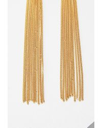 Forever 21 | Metallic Tassel Chain Earrings | Lyst