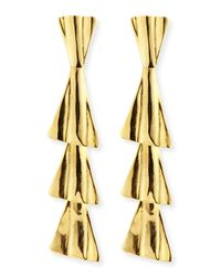 Robert Lee Morris - Metallic 18k Gold-plated Fan Drop Earrings With Post - Lyst