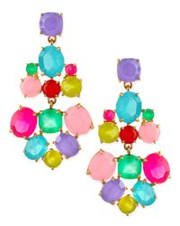 kate spade new york - Faceted Crystal Earrings Multicolor - Lyst