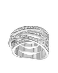 Swarovski Metallic Spiral Ring