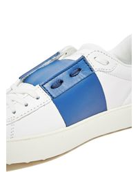 Valentino | Blue Leather Sneakers | Lyst