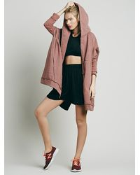 Free People - Red Womens Oversized Zip Hoodie - Lyst