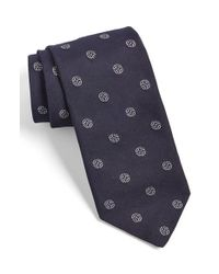 Todd Snyder | Blue Medallion Silk Tie for Men | Lyst