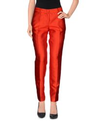 Alberto Biani | Red Casual Trouser | Lyst