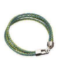 Tateossian - Blue Lobster Braid Bracelet for Men - Lyst