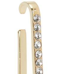 MFP MariaFrancescaPepe - Metallic 23kt Gold-plated Lobe Cuff - Lyst
