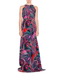 Emilio Pucci - Pink Sleeveless Multi-print Maxi Dress - Lyst