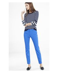 Express | Blue Low Rise Editor Ankle Pant | Lyst