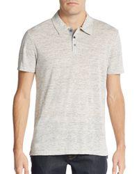 VINCE | Gray Linen Polo Shirt for Men | Lyst