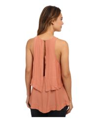 Free People - Orange Layers In Love Tunic - Lyst