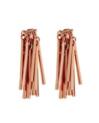 Eddie Borgo | Pink Fringe Rose-Gold Plated Earrings | Lyst