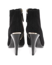 Burberry Prorsum | Black Virginia Suede Ankle Boots | Lyst