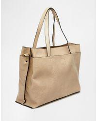 Oasis | Gray Triple Compartment Shopper Bag | Lyst