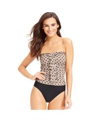 INC International Concepts | Natural Polka-dot Ruffle One-piece Swimsuit | Lyst