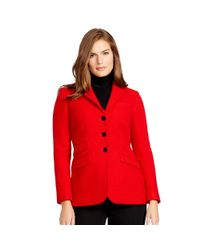 Ralph Lauren - Red Wool Three-button Jacket - Lyst