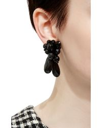 Simone Rocha | Black Glass Beaded Earrings | Lyst