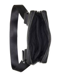 BOSS - Black 'sertik' | Leather Reporter Bag With Adjustable Strap for Men - Lyst