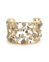 Alexis Bittar | Metallic 'elements' Confetti Crystal Cuff Bracelet | Lyst