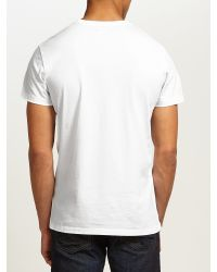 DIESEL | White 'T-Migues' T-Shirt for Men | Lyst