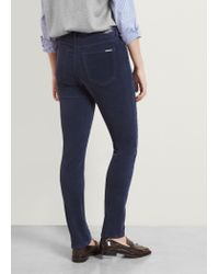 Violeta by Mango | Blue Slim-fit Corduroy Trousers | Lyst