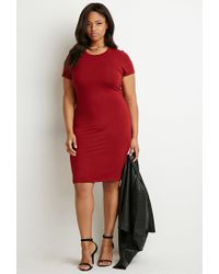 Forever 21 - Purple Plus Size Classic T-shirt Dress - Lyst