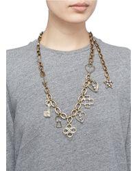 Lanvin | Metallic '125 Charms' Multi Charm Pendant Necklace | Lyst